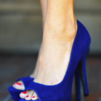 Restock: Crazy In Love Heels: Blue | Hope's