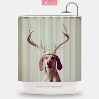 Christmas Dog Handmade Custom Shower Curtain Home & Living 144