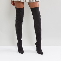 Truffle Collection Thigh High Stiletto Boot at asos.com