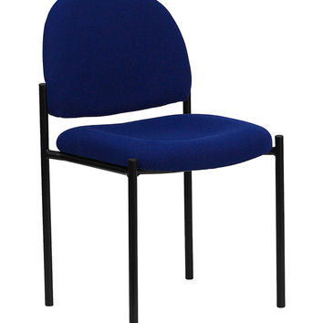 Flash Furniture Navy Fabric Back Padded Steel frame Comfortable Stackable Steel Side Chair