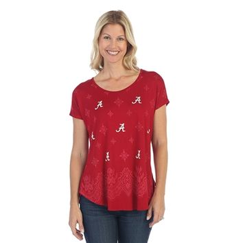 Alabama Crimson Tide Lace Dolman Tee | BAMA Lace Dolman Tee | Alabama Crimson Tide Short Sleeve Tee