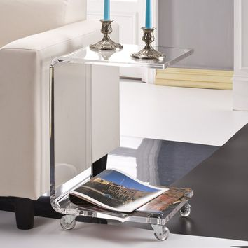 C Shape Acrylic Accent Table | Overstock.com Shopping - The Best Deals on Coffee, Sofa & End Tables