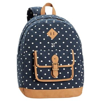 Northfield Navy Dot Backpack