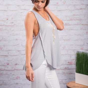 Casual Intuitions Tank, Lilac Gray