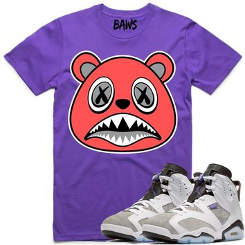 INFRARED BAWS Sneaker Tees Shirt - Jordan Retro 6 Flint