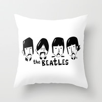 The Beatles Throw Pillow by marceloBAdARI