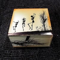 Dancing Skeleton Keepsake Box