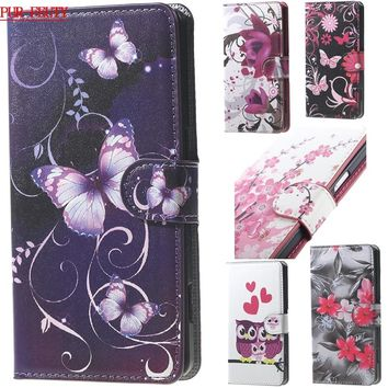 Pink Plum Flip Magnetic Wallet Stand Leather Phone Case for Acer Liquid Z530 Z 530 Cover for Acer Z530 T02 T 02 Photo Frame bags