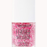 FOREVER 21 Magenta Feather Nail Polish Pink/Multi One