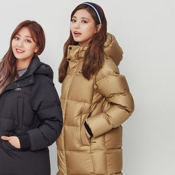 TWICE Beanpole Sport 18FW Unisex Gold&Silver B.Bench Duck Down Bench Down Long Padding Jackets