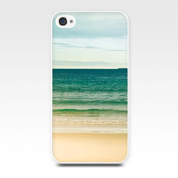 iphone 4 4s 5 case nautical beach scene teal vintage photography case beach fine art photo cover waves iphone 5 case blue green emerald