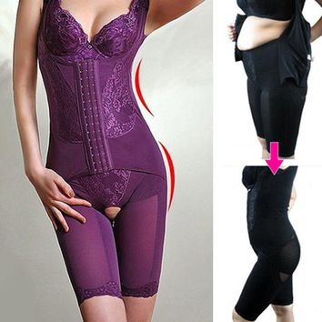 Lady Seamless Full Body Shaper Waist Trainer Control Firm Tummy Women Slimming Corrective Shapewear Slim Waist Corsets Bodysuit