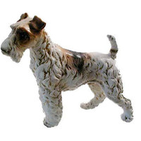 1950s AIREDALE TERRIER  Dog Figurine in Fine Bone China