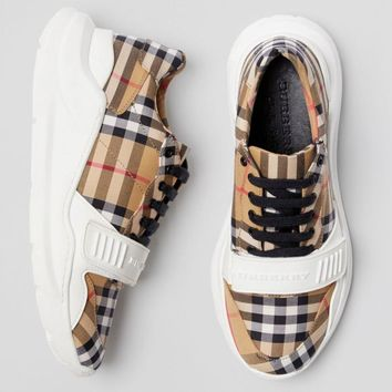 Burberry Vintage Check Cotton Sneakers #442
