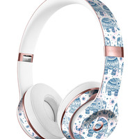 Ethnic Navy Seamless Aztec Elephant Full-Body Skin Kit for the Beats by Dre Solo 3 Wireless Headphones