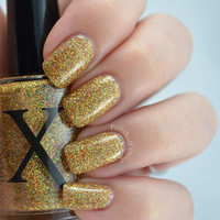 Guilded Holo - Gold Holographic Glitter Nail Polish