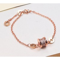 BVLGARI simple and stylish rose gold bracelet versatile personality temperament F-HLYS-SP rose gold