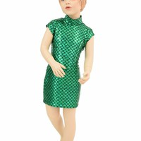 Girls Green Celia Dress