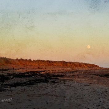Scotland Photography Print, Moon Art, Earth Tones, Large Wall Art, Landscape Photography, Fine Art Photography, Brown Art - Northern Moon