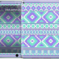 Tribal pattern purple and mint iPad Skins by Ted | Nuvango