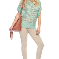 Mint Knitted Over Sized Top