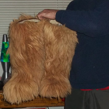 Super Rare Yeti Vintage Sixties 60s Fur Boots