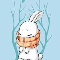 """Winter Bunny"" - Art Print by Indré Bankauskaité"