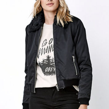 Obey Ramblin Rose Bomber Jacket at PacSun.com