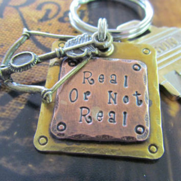 Hunger Games Inspired Keychain  Real or Not Real by themadstampers