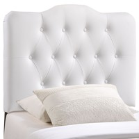 Annabel Twin Upholstered Vinyl Headboard