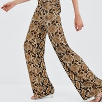 SNAKE PRINT PANTS - NEW IN-TRF | ZARA United States