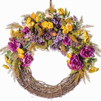 Rose and Rannuculus  Everyday Wreath (FW907F)