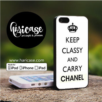 Keep Classy Carry Chanel iPhone 5 | 5S | SE Cases haricase.com