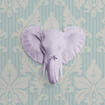 The Savannah Lavender Faux Mini Elephant head