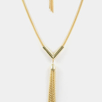 Kizzy Tassel V Necklace