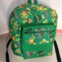 Nerdy backpack in various fabric designs