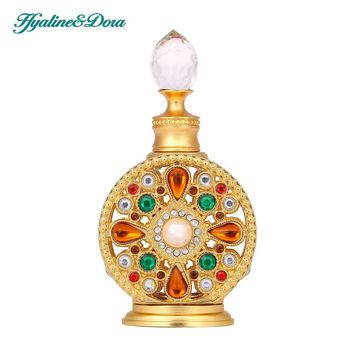 12ml Diamante Retro Antique Hollow Out Glass Perfume Bottle Empty Cosmetic Container Perfume Bottle