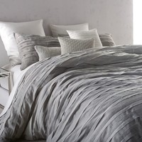 DKNY Loft Stripe Comforter Set in Grey