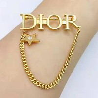 DIOR Fashion Women Simple Brooch Accessories Jewelry