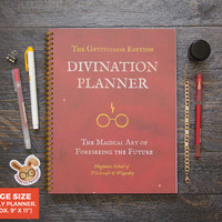 NEW DESIGN! Large Gryffindor Harry Potter Planner  / Weekly / Large Size - Choose Your Layout & Month!