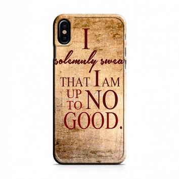 Harry Potter Quotes-I Solemnly Swear That I Am Up To No Good iPhone X Case