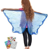 Douglas Toys Dreamy Dress-Ups 50583 Blue Fairy Wings with Coloring Book
