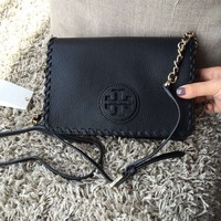 Tory Burch Bag Bombe Chain Crossbody TB Logo Leather