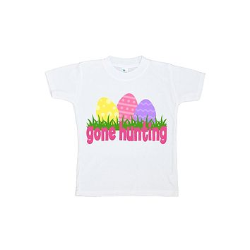 Custom Party Shop Girls' Gone Hunting Easter Tshirt