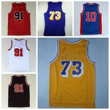 Throwback Basketball Jerseys 2016 Classical Shirt Sport Basket ball Purple Yellow Black Red White Pallacanestro With Player Name Team Logo
