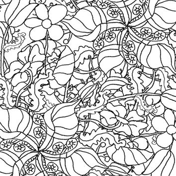 Digital Download Coloring Page,Adult Coloring,herb colouring,line drawing,Adult Coloring Page,Printable Digital Illustration,flower Line Art