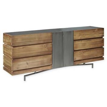 Pulaski Bensen Metal and Wood Console