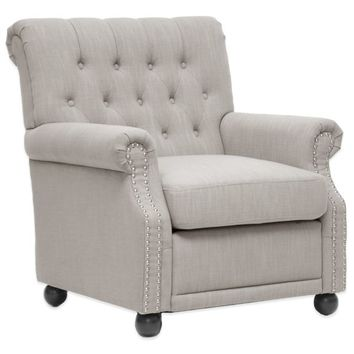 Baxton Studio Moretti Linen Modern Club Chair