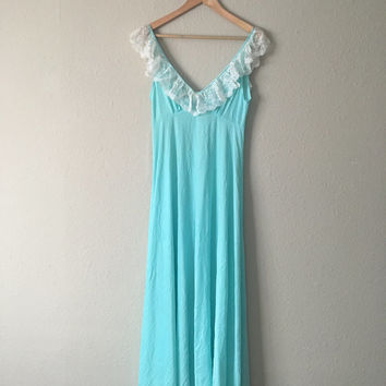 Aquamarine Goddess Nightgown