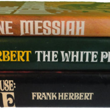 FRaNK HERBERT vintage book lot Chapterhouse DUNE Messiah White Plague Hardcover Putnam HC collection